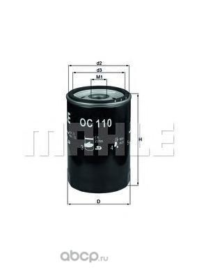 Масляный фильтр (Mahle/Knecht) OC110 (фото, вид 1)