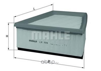 Воздушный фильтр (Mahle/Knecht) LX709 (фото, вид 1)