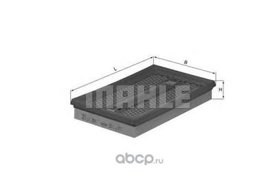 Воздушный фильтр (Mahle/Knecht) LX350 (фото, вид 1)
