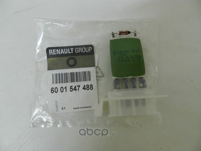 Резистор для Рено Логан 2011 цена (RENAULT) 6001547488 (фото, вид 1)