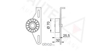 Натяжной ролик поликлиновой ремень (AUTEX) 641586 (фото, вид 1)