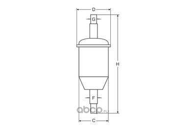 Фильтр топливный (SCT) ST337 (фото, вид 2)