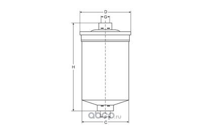 Фильтр топливный (SCT) ST330 (фото, вид 2)