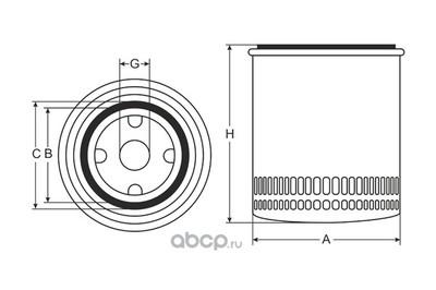 Фильтр масляный (SCT) SM113 (фото, вид 3)