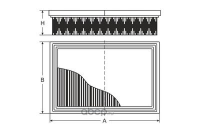 Фильтр воздушный (SCT) SB295 (фото, вид 3)
