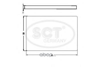 Фильтр салона (SCT) SA1269 (фото, вид 2)