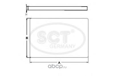 Фильтр салона (SCT) SA1123 (фото, вид 1)