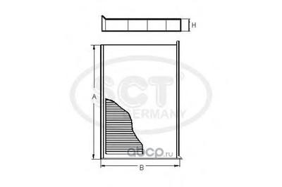 Фильтр салона (SCT) SA1217