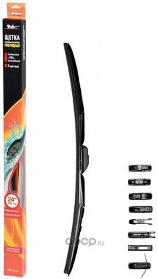 """Щетка стеклоочистителя 600 мм (24"""") гибридная, 8 адаптеров (AIRLINE) AWBH600"""