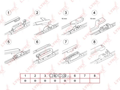 Монолитные щётки 500mm 500mm (LYNXauto) XF500 (фото)