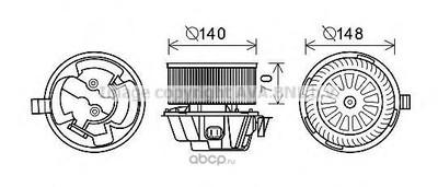 Электродвигатель вентиляция салона (Ava) DA8012