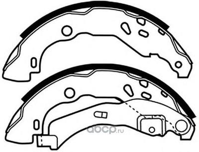 Колодки тормозные барабанные задние (ASVA) AKS2014