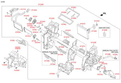 Электропривод актуатор заслонки направленния воздуха (Hyundai-KIA) 971571JAA0