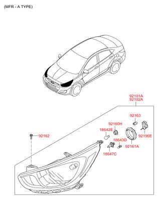 Кожух фары (Hyundai-KIA) 921911R000