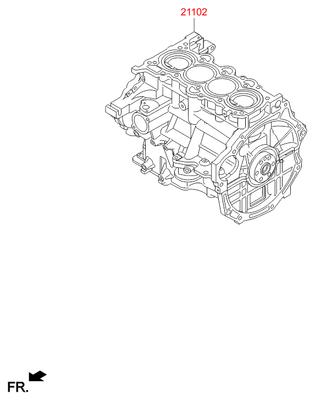 Блок цилиндров (Hyundai-KIA) 211022BW03