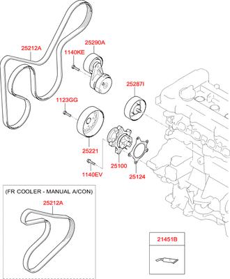 Деталь (Hyundai-KIA) 252862B040