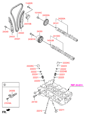 Деталь (Hyundai-KIA) 242002B010