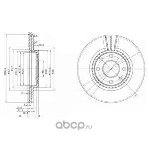 Тормозной диск (Delphi) BG2625C