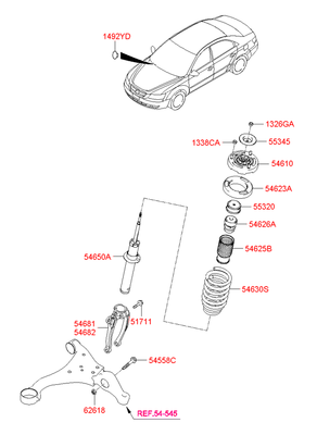 Амортизатор (Hyundai-KIA) 546113K130