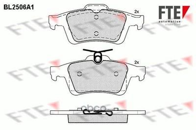 Дисковые тормозные колодки (FTE Automotive) BL2506A1