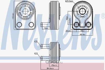 Масляный радиатор, двигательное масло (Nissens) 90971