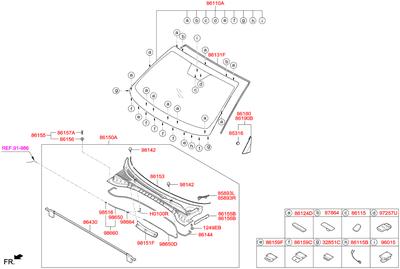 Мотор омывателя (Hyundai-KIA) 9851621100