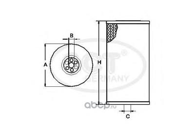 Топливный фильтр (SCT) ST756 (фото)