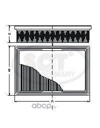 Воздушный фильтр (SCT) SB553 (фото)