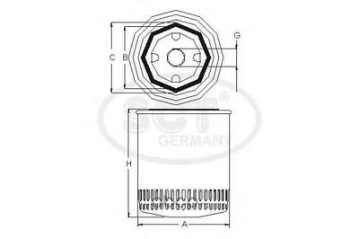 Масляный фильтр (SCT) SM124 (фото)