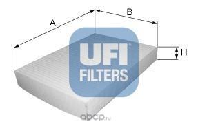 Фильтр, воздух во внутренном пространстве (UFI) 5312500