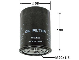 Масляный фильтр (VIC) C312