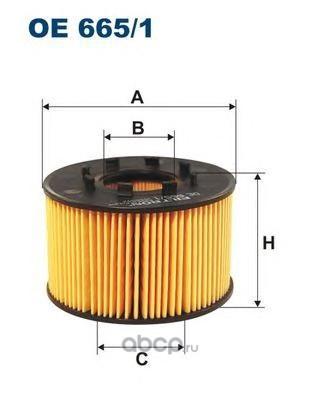 Фильтр масляный Filtron (Filtron) OE6651