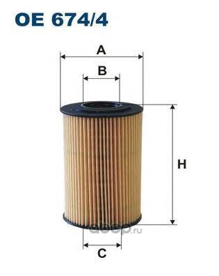 Фильтр масляный Filtron (Filtron) OE6744