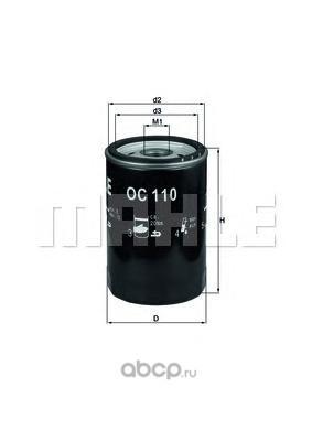 Масляный фильтр (Mahle/Knecht) OC110 (фото)
