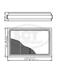 Воздушный фильтр (SCT) SB2175 (фото)