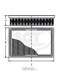 Воздушный фильтр (SCT) SB040 (фото)