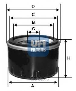 Масляный фильтр (UFI) 2346100