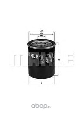 Масляный фильтр (Mahle/Knecht) OC617