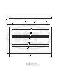 Воздушный фильтр (SCT) SB2190 (фото)