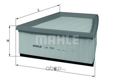 Воздушный фильтр (Mahle/Knecht) LX709 (фото)