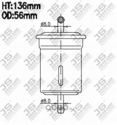 Фильтр топливный (JS Asakashi) FS9090