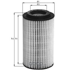 Масляный фильтр (Mahle/Knecht) OX1541D