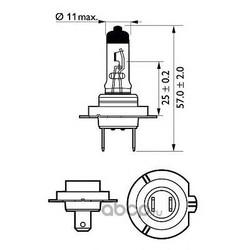 Лампа накаливания, фара дальнего света (Philips) 12972CTVBW