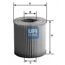 Масляный фильтр (UFI) 2500900