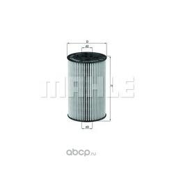 Масляный фильтр (Mahle/Knecht) OX150D