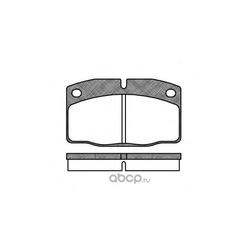 Комплект тормозных колодок, дисковый тормоз (Remsa) 010100