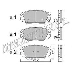 Комплект тормозных колодок, дисковый тормоз (Trusting) 9020
