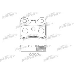 Колодки тормозные дисковые задние (PATRON) PBP772