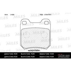 Колодки тормозные SAAB 900 93-98/9-3 98-03/9-5 / OPEL OMEGA A/B VECTRA B задние (Miles) E110122
