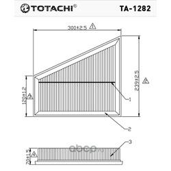 Воздушный фильтр (TOTACHI) TA1282
